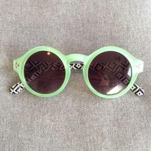 Accessories - Seafoam Green Circular Sunglasses
